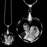 Personalised Crystal Heart Photo Necklace Pendant