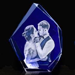 3D Iceberg Diamond Photo Crystal (140 x 100 x 60)