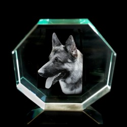 Jade 2D Glass Crystal Photo Etching (Octagon)