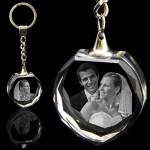 3D Heart Crystal Keyring / Keychain (35x 35x 15mm)