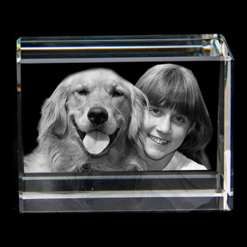 3D Izara Engraved Photo Crystal (80 x 60 x 40mm)