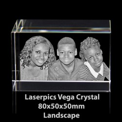 3D Vega Photo Crystal (80 x 50 x 50mm)