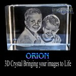 Extra Large 3D Orion Block Photo Crystal (140 x 100 x 60mm)