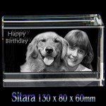 3D Panoramic Extra Wide Large Photo Crystal Sitara