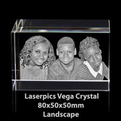3D Vega Photo Crystal Landscape (80 x 50 x 50mm)