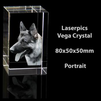 2D Vega Crystal Portrait (80 x 50 x 50mm)